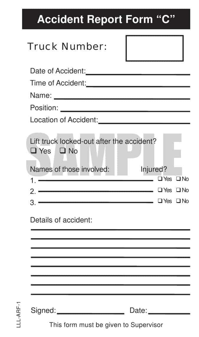 Forklift Safety Inspection Checklist Book  The Equipment Log