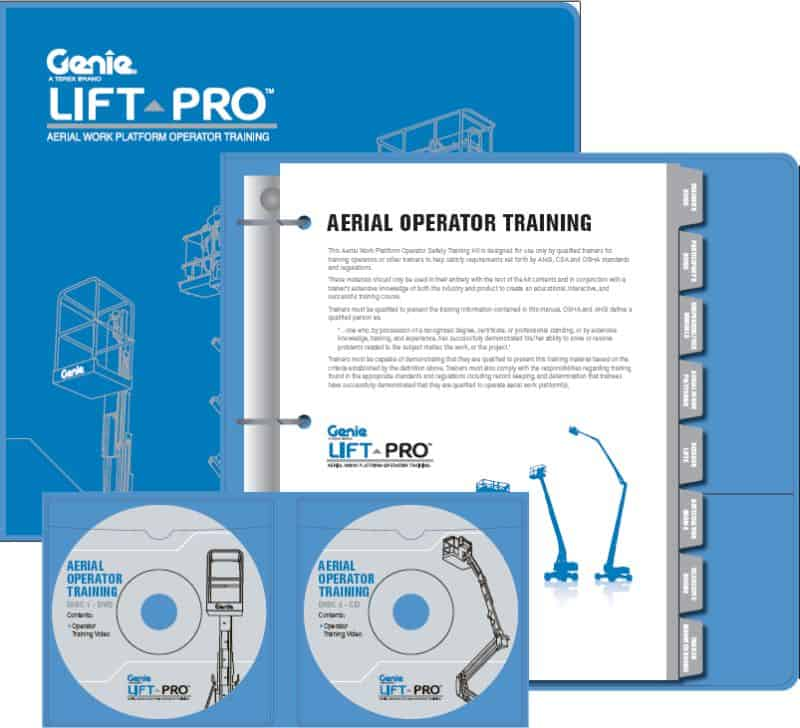aerial work platform operator training kit for scissor boom lifts rh forkliftcenter net Sample Participant Guide genie operator training participant's guide