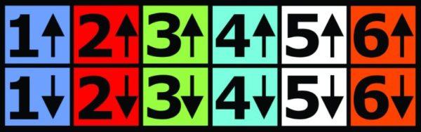 Accu-Height Mast Stickers