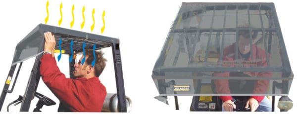Forklift Solar Cap Side