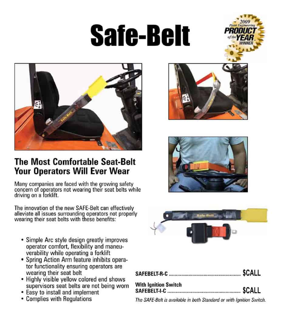 The Safe Belt Ergonomic Forklift Seat Belt