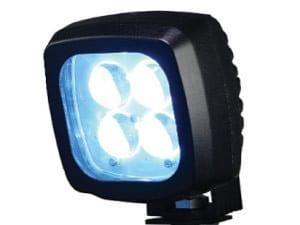 big blue forklift spot light