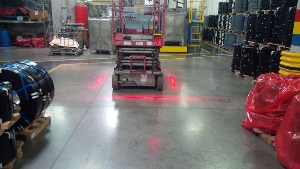 Red Zone Danger Area Warning Light Forklift Safety Solutions