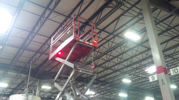 Red Zone Danger Area Warning Light Forklift Safety Solutions